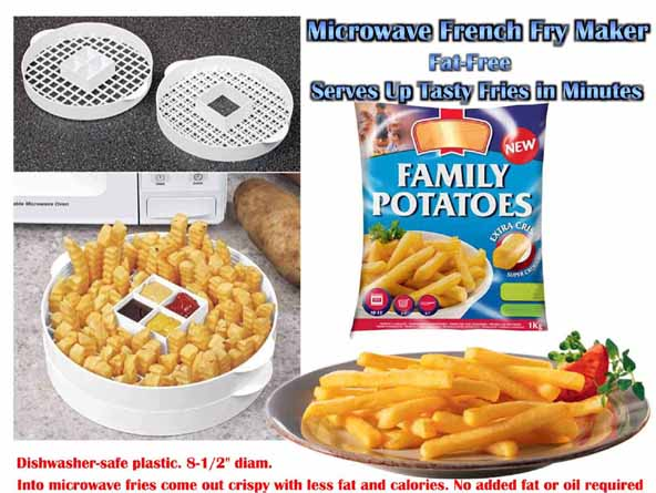 Microwave French Fry Maker Serves Up Tasty Fries In Minutes